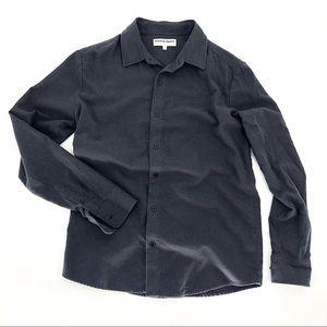 American Apparel dark grey flannel shirt s